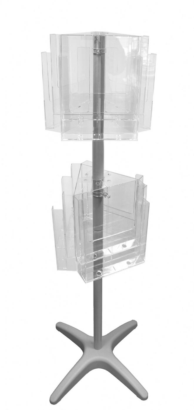 12 Pocket A4 Floor Standing Carousel